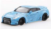 1/64 LB★WORKS 日産 GT-R R35 ダックテール ライトブルー(右ハンドル)[MINI GT]《06月予約》