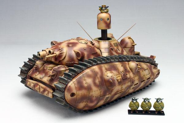 1/72 夢の多砲塔戦車 悪役1号 短砲身 3体のブタ増員セット (ホビーショー特別限定商品) プラモデル[アスカモデル]《06月予約》