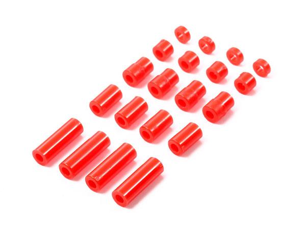 軽量プラスペーサーセット (12/6.7/6/3/1.5mm) (レッド)[タミヤ]《06月予約》