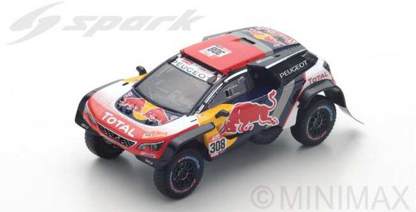 1/43 Peugeot 3008 DKR Maxi No.308 - Team Peugeot Total - Dakar 2018 C. Despres - D. Castera[スパーク]《09月仮予約》
