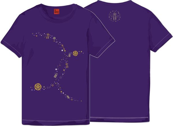 刀剣乱舞-ONLINE- Tシャツ へし切長谷部 パープル L(レディース)