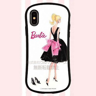 バービー iPhone Xs/X 対応 ハイブリッドガラスケース ドレス (BAR-02A)