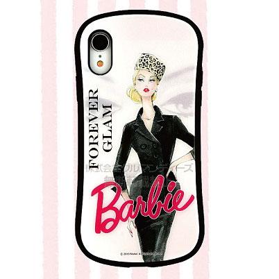 バービー iPhone XR 対応 ハイブリッドガラスケース スーツ (BAR-03A)