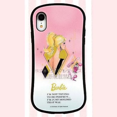 バービー iPhone XR 対応 ハイブリッドガラスケース キラキラ (BAR-03B)