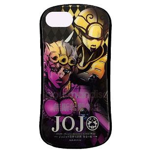 ジョジョの奇妙な冒険 黄金の風 iPhone 8/7/6s/6 対応 ハイブリッドガラスケース ジョルノ (JJK-20A)