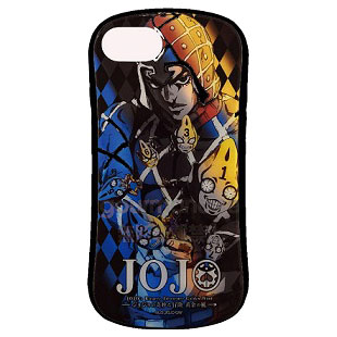 ジョジョの奇妙な冒険 黄金の風 iPhone 8/7/6s/6 対応 ハイブリッドガラスケース ミスタ (JJK-20D)