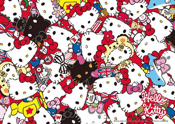 ジグソーパズル サンリオ ハローキティのヒストリーミックス ヌイグルミ 108ピース (108-834)
