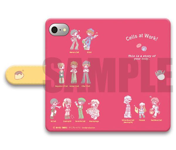 「はたらく細胞」手帳型スマホケース(iPhone5/5s/SE)SEWEETOY-SA