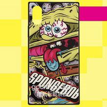 スポンジ・ボブ KrustyPants iPhone Xs/X 対応 スクエアガラスケース アイボール (SB-68A)