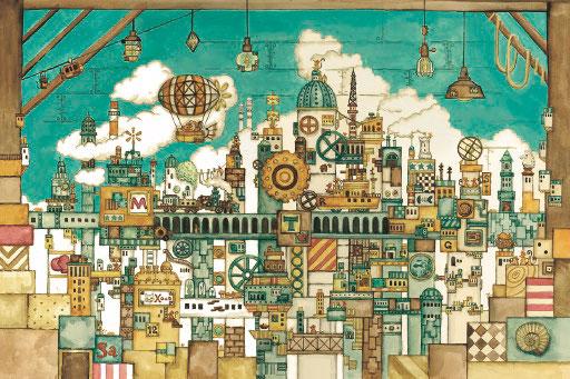 ジグソーパズル メルヘンアート 西村典子 屋根裏部屋のネズミの王国 1000ピース (11-594)