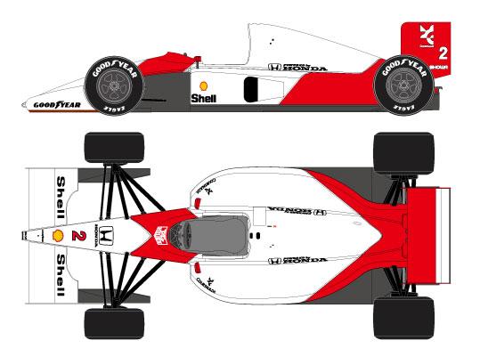 1/43 マクラーレン ホンダ MP4/6 USA GP 1991 No.2