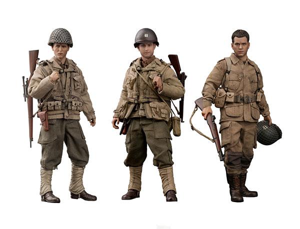 1/12 WWII US レスキュー スクワッド スナイパー/キャプテン/パラトルーパー 3体セット