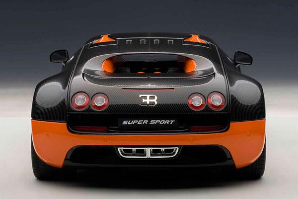 Signature Series 1/18 Bugatti Veyron Super Sport (Carbon Black/ Orange)(Back  Order)
