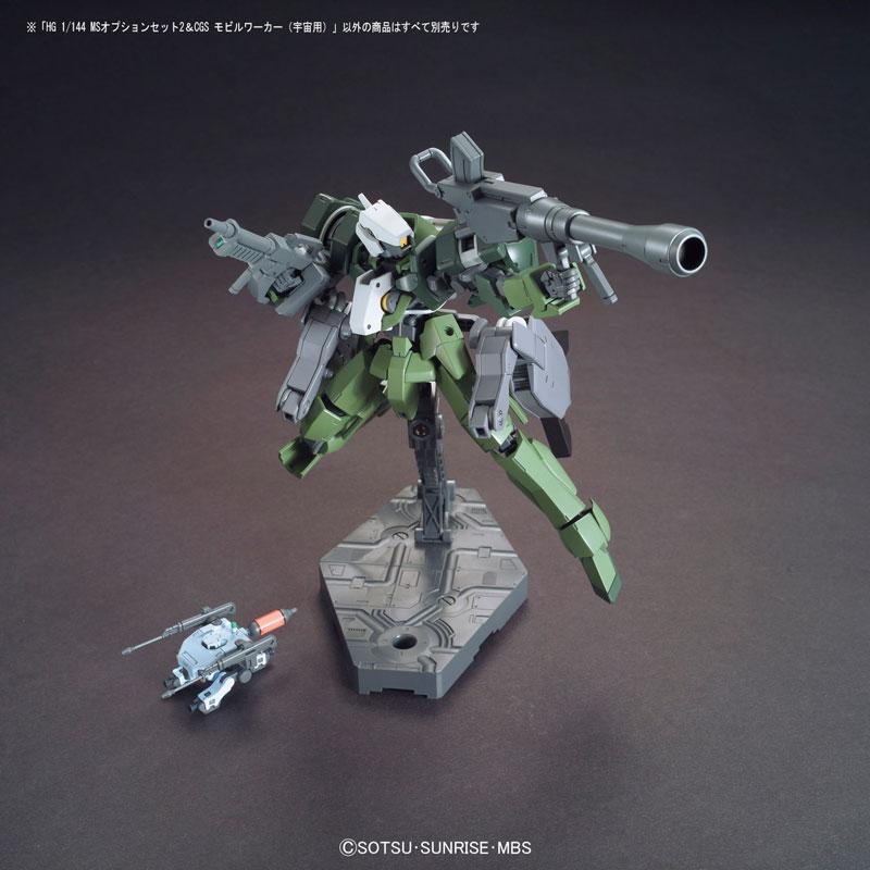 HG 1/144 MSオプションセット2 & CGSモビルワーカー(宇宙用) プラモデル(仮称)