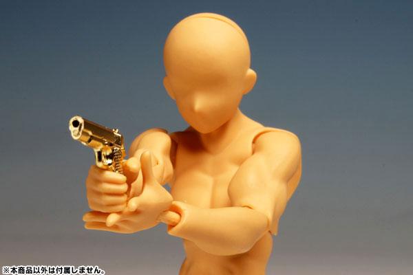 1/12 リアリスティック ウエポン シリーズ リアリスティック ハンドガン(6種) ゴールドコーティングver. プラモデル