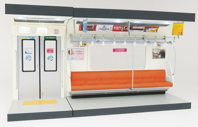 部品模型シリーズ 1/12 内装模型 通勤電車(オレンジ色シート)