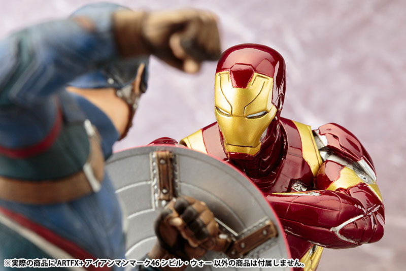 ARTFX+ - Captain America Civil War: Iron Man MARK46 Civil War 1/10 Easy Assembly Kit(Pre-order)ARTFX+ 『シビル・ウォー/キャプテン・アメリカ』 アイアンマン MARK46 シビル・ウォー 1/10 簡易組立キットScale Figure