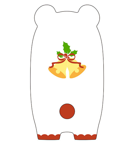 Nendoroid More - Kigurumi Face Parts Case (Christmas Polar Bear Ver.)(Pre-order)ねんどろいどもあ きぐるみフェイスパーツケース(しろくまクリスマスVer.)Nendoroid