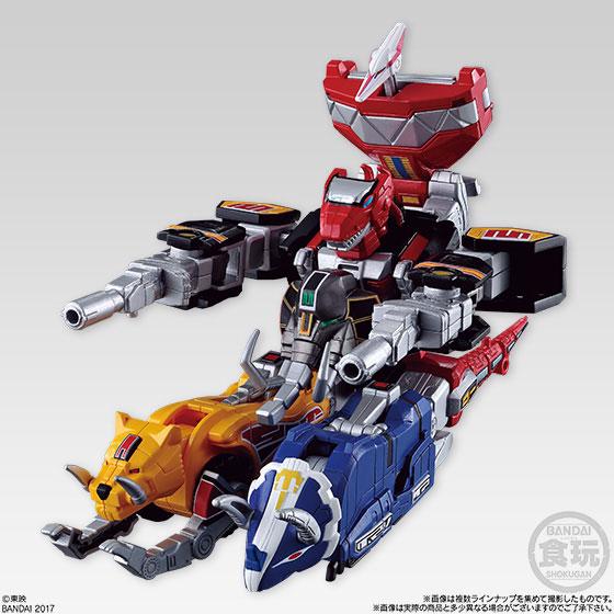 Super Mini-Pla - Shinka Gattai Kyoryu Sentai Zyuranger Daizyujin 5Pack BOX (CANDY TOY)(Pre-order)スーパーミニプラ 進化合体 恐竜戦隊ジュウレンジャー 大獣神 5個入りBOX(食玩)Accessory