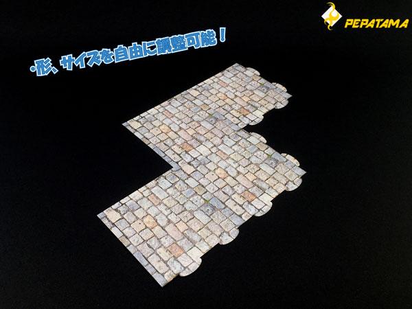 1/12 PEPATAMAシリーズ F-002 ペーパージオラマ ジョイントマット 石畳A