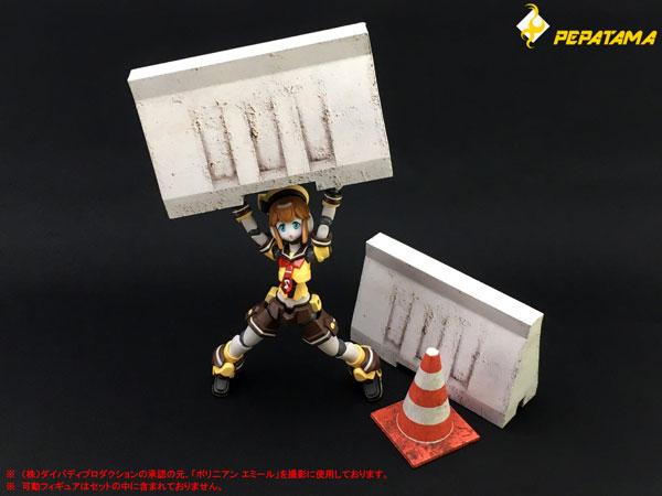 1/12 PEPATAMAシリーズ ペーパージオラマ S-003 バリケードA コンクリート