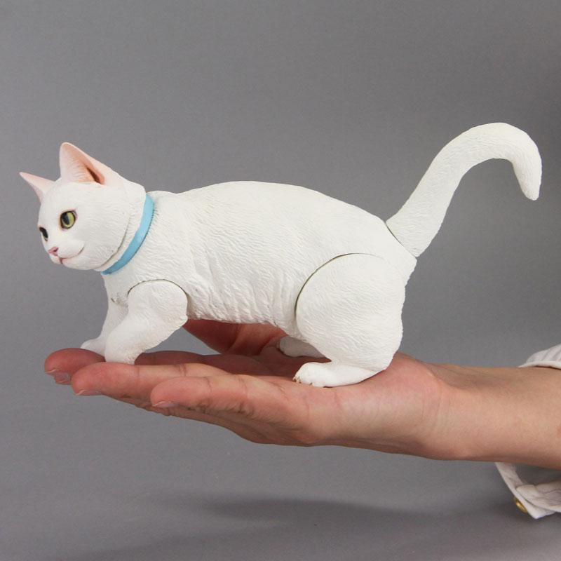 Sofubi Toy Box 016B White Cat Munchkin Sofubi Figure(Pre-order)ソフビトイボックス 016B 白ネコ マンチカン ソフビフィギュアScale Figure