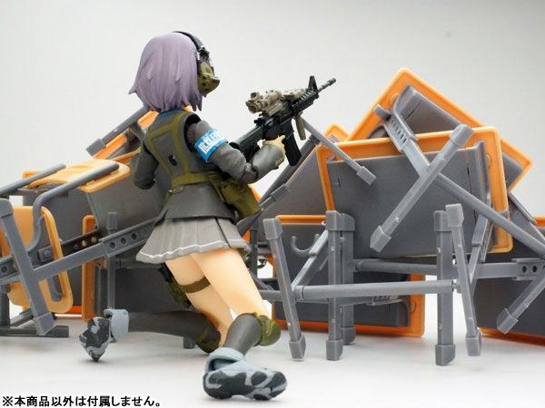 LittleArmory (LD011) Specified Defense School Desk Grease Gun Set(Pre-order)リトルアーモリー〈LD011〉指定防衛校の机 グリースガンセットScale Figure
