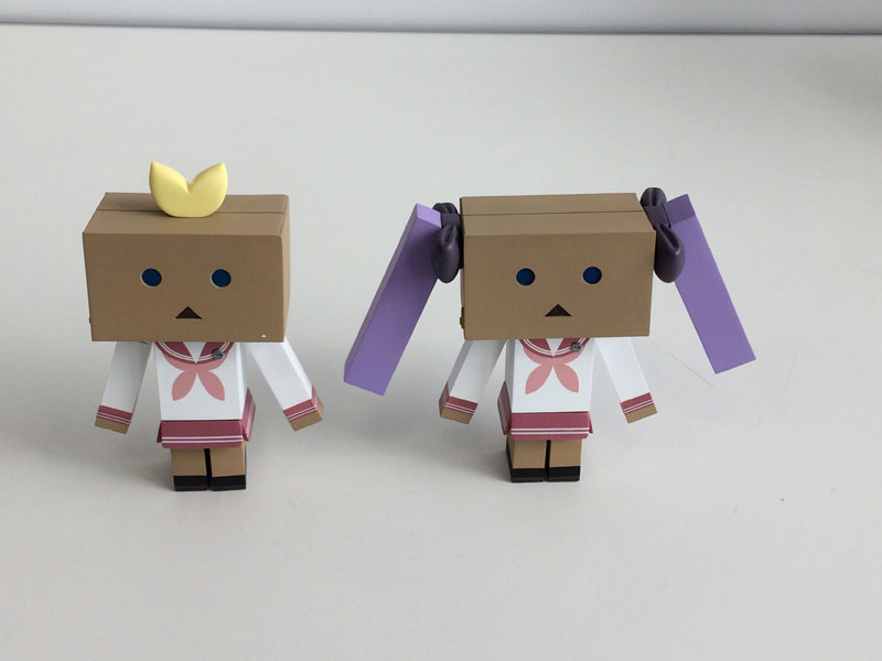 Lucky Star - Tsukasa & Kagami Danboard ver.(Pre-order)らき☆すた つかさ&かがみ ダンボーver.Scale Figure