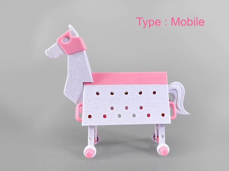 Love Toys Vol.3 三角木馬 Wooden horse pink Ver. 1/12 未塗装 未組み立てキット