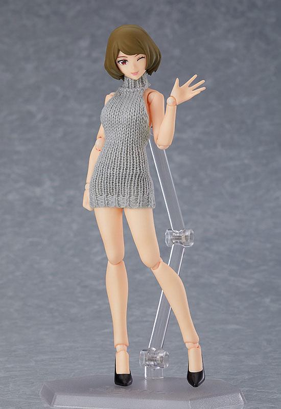 figma Styles 女性body(チアキ) with バックレスセーターコーデ[マックスファクトリー]《06月予約》