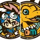 W Rubber Mascot - Digimon Adventure Best Partner 15TH! 8Pack BOX(Released)