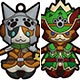 Monster Hunter X - Both-sides 3D Solid Rubber Mascot Collection Otomo Felyne 10Pack BOX