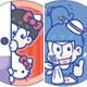 おそ松さん×SANRIO トレーディング缶バッジ 36個入り猫瓶