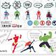 Marvel Pop Icon - Masking Tape & Large Sticker Set