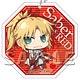 Fate/Apocrypha - Felt Coaster: Keychain Saber of Red