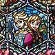 Jigsaw Puzzle - Disney & Disney/Pixar Heroine Collection Stained Glass (D-2000-622) 2000pcs
