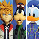 Kingdom Hearts II - Action Figure Select Series 2: Roxas & Donald Duck & Goofy