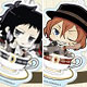 Bungo Stray Dogs - Acrylic Keychain Coffee Cup: Port Mafia 6Item Set