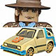 Minimates - Back To The Future PART.3: Rail Lady De Lorean Time Machine with Marty McFly
