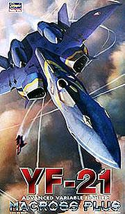 マクロスプラス 1/72 YF-21 プラモデル(再販)[ハセガワ]《取り寄せ※暫定》