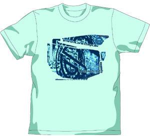 攻殻機動隊S.A.C. 笑い男ウォールペイントTシャツ/ミントグリーン-XL(再販)[コスパ]《在庫切れ》