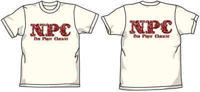 アイテムヤ NPC Tシャツ/ナチュラル-XL[コスパ]《在庫切れ》
