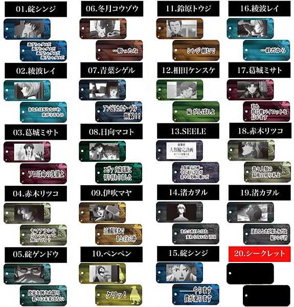 ヱヴァンゲリヲン新劇場版:序 名言プレート BOX(新世紀エヴァンゲリオン)(再販)[ムービック]《在庫切れ》