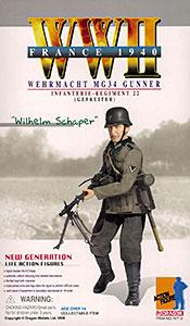 """1/6 アクションフィギュア WW.II ドイツ国防軍 MG34射撃手 第22歩兵連隊""""ウィルヘルム・シャペール上等兵""""[プラッツ]《在庫切れ》"""
