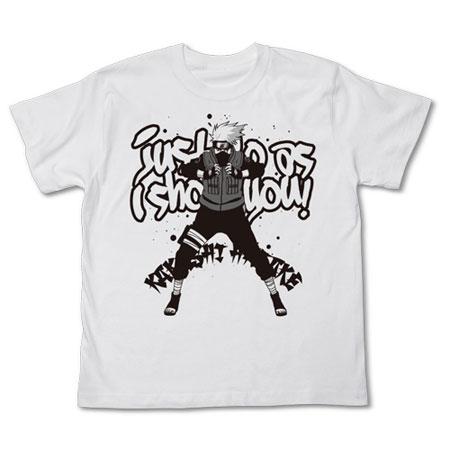 NARUTO -ナルト- 疾風伝 カカシTシャツ/ホワイト-XL(再販)[コスパ]《12月予約》