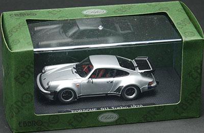 ダイキャストミニチュアモデル ポルシェ 911 ターボ 1978 シルバー[EBBRO]《取り寄せ※暫定》