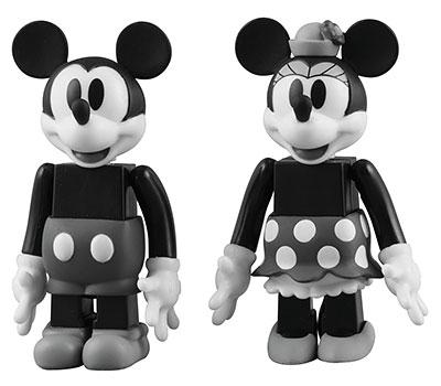 キューブリック No.259 ミッキーマウス&ミニーマウス(ブラック&ホワイトver.)