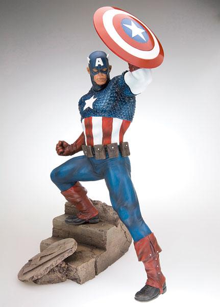 CAPTAIN AMERICA キャプテンアメリカ ファインアートスタチュー[コトブキヤ]《在庫切れ》