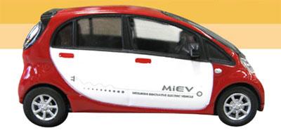 1/64 次世代電気自動車 i MiEV 三菱自動車(赤/白)