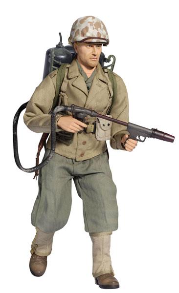 "1/6 WW.II アメリカ海兵隊 第6海兵師団 第4海兵連隊 火炎放射兵""ブラッド・メイソン"" アクションフィギュア[プラッツ]《在庫切れ》"